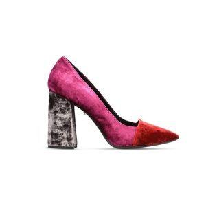Just Cavalli velvet court shoe 👠